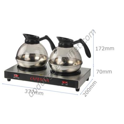 kích thước Bộ bếp hâm cà phê caferina cùng bình đựng cafe kinox CF23-B2