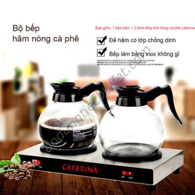 Bộ bếp hâm cà phê cùng bình đựng thủy tinh caferina CF23-B3