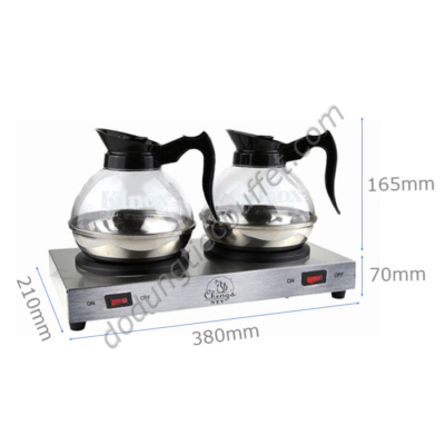 kích thước Bộ bếp hâm cà phê Cheng's NTV cùng bình đựng cafe Kinox CF23-B5