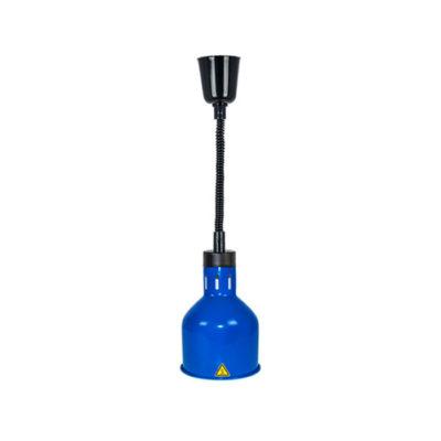 Đèn giữ nóng thức ăn treo trần inox mạ xanh DA2505