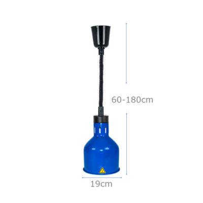 Kích thước Đèn giữ nóng thức ăn treo trần inox mạ xanh DA2505