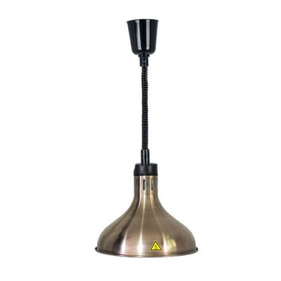 Đèn hâm nóng thức ăn treo inox màu đồng đen DA2518
