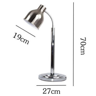Kích thước Đèn hâm thức ăn buffet 1 bóng inox trắng DA2533-1