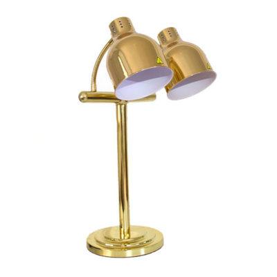 Đèn hâm thức ăn buffet 2 bóng inox vàng DA2537-2