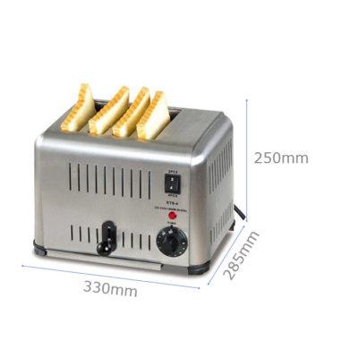 Kích thước Máy nướng bánh mì sandwich inox 4 ngăn ETS-4