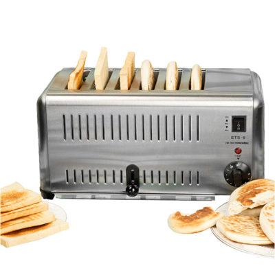 Máy nướng bánh mì sandwich inox 6 ngăn ETS-6