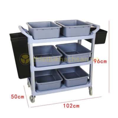Kích thước Xe dọn bát đĩa nhà hàng đa năng XB1507