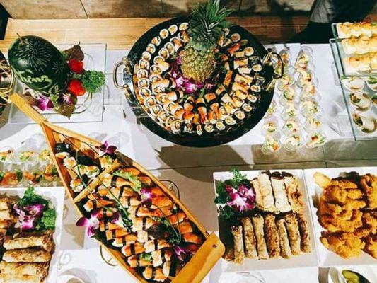 Thực đơn tiệc buffet