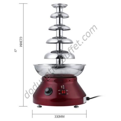 Kích thước Tháp phun chocolate 5 tầng giá rẻ TL7851